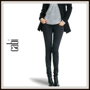 Cabi Pitch Gunmetal Black Super Skinny Jeans